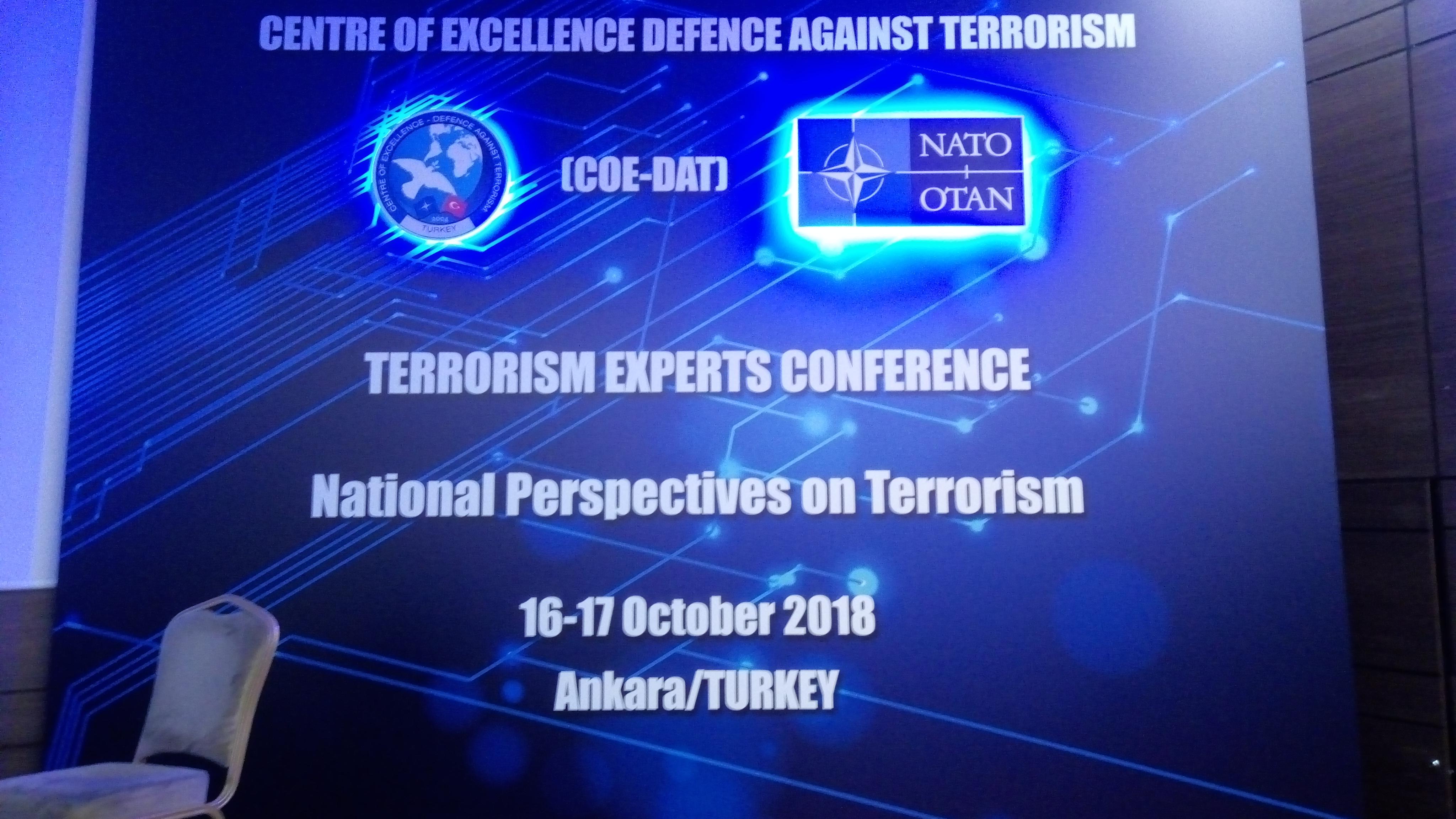 Конференция на експертите по противодействие на тероризма в центърана НАТО за противодействие на тероризма в Анкара – Турция