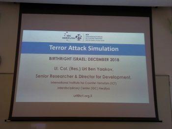 Практически занятия в Международния институт по контратероризъм в Херцлия – Израел.