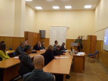 Гост лектори в аудиторията на  студентите от първи курс на специалността (учебна група С2119з)