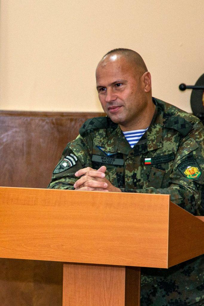 генерал-майор Явор Матеев гостува на специалността